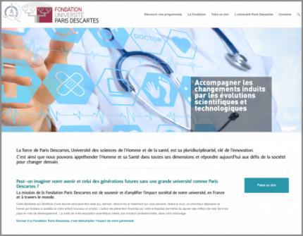 Le site web de la Fondation Paris Descartes fait peau neuve