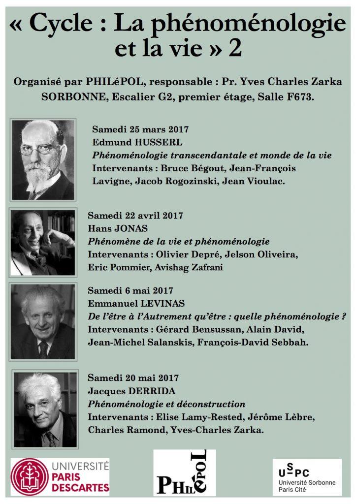 Philépol « Cycle : La phénoménologie et la vie » 2 @ En Sorbonne