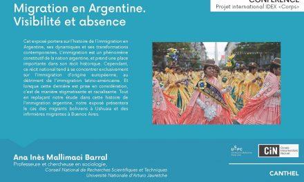 02/10 : « Migration en Argentine. Visibilité et absence »