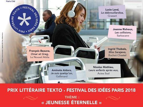 Première édition du Prix littéraire TexTo-Festival des idées Paris