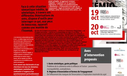 19 & 20 octobre | Sémiotique, engagement et implication