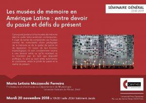 Les musées de mémoire en Amérique Latine @ CUSP | Bâtiment Jacob | Salle J536 | Paris | Île-de-France | France