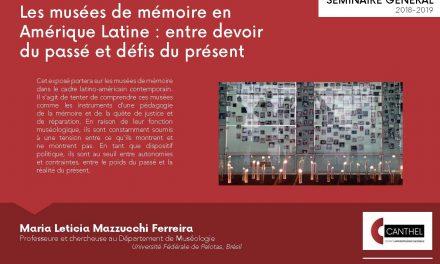 20/11 : « Les musées de mémoire en Amérique Latine »
