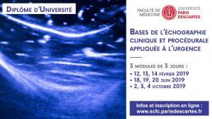 DU Bases de l'échographie clinique et procédurale appliquée à l'urgence @ Hôpital Cochin | Paris | Île-de-France | France