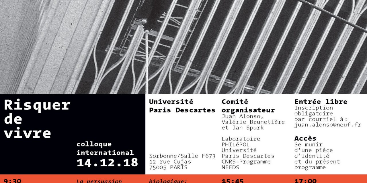 "14/12 : ""Risquer de vivre"" 