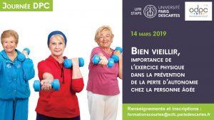 Séminaire DPC : Bien vieillir, importance de l'exercice physique dans la prévention de la perte d'autonomie chez la personne âgée @ UFR Staps
