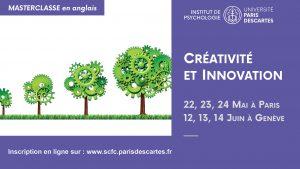 MasterClass Créativité et Innovation @ Centre Universiaire des Saints Pères