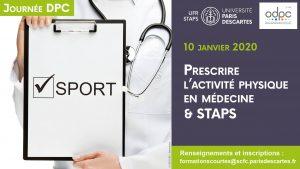 Séminaire DPC 'Prescrire l'activité physique en Médecine et STAPS' @ UFR Staps