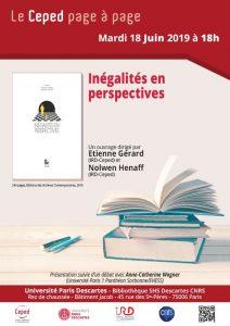 """Ceped Page à Page """"Inégalités en perspectives"""" @ Bibliothèque SHS Descartes CNRS de l'Université Paris Descartes."""