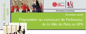 Formation Préparation au concours de Professeur de la Ville de Paris en EPS @ UFR STAPS Paris Descartes
