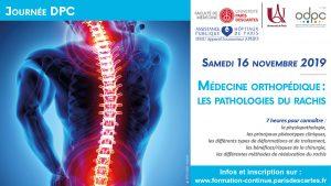 Les journées DPC de la faculté de Médecine : Médecine orthopédique: les pathologies du rachis @ Faculté de Médecine Cochin -