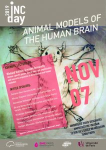 INC DAY 2019 : Animal Models of the Human Brain @ Université Paris Descartes - Amphi Vulpian